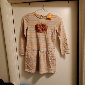 Girls Pumpkin Dress